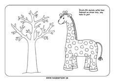 Žirafa - pracovný list Kids And Parenting, Moose Art, Education, Ms, Animals, Home Decor, Animales, Decoration Home, Animaux