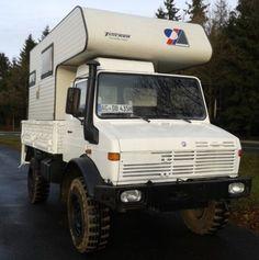 Mercedes-Benz Unimog Expeditionsmobil Allrad Adventure Camper Could be a zombie apocalypse camper.