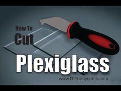 How to Cut Plexiglas: Learn the easy, DIY way to cut strait edges and curves from plexiglas.