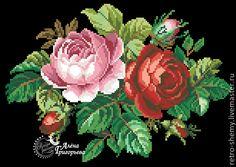 """Купить Схема вышивки """"Английские розы"""" - схема, схема для вышивки крестом, схема…"""