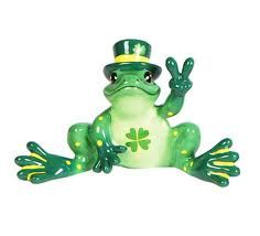 Leprechaun Painted Peace Frog with Clover Ornament St Pattys, St Patricks Day, Westland Giftware, Frog Art, Cute Frogs, Happy Hippie, St Paddys Day, Frog And Toad, Lucky Star
