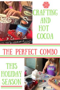 Feeling creative this holiday season? Why not grab your family and enjoy some crafting mixed with hot cocoa and create some new holiday memories this year!