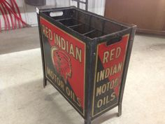 Early Red Indian 8 Bottle Rack