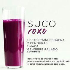 Suco Roxo Detox para Secar a Barriga. Juice Cleanse Recipes, Detox Juice Cleanse, Detox Recipes, Detox Drinks, Detox Juices, Detox Foods, Berry Smoothie Recipe, Raspberry Smoothie, Easy Smoothie Recipes