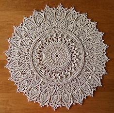 This doily is worked in 39 rounds.