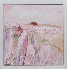 A Scene In White Pink And Brown framed by MFURLONGARTIST on Etsy Pink Painting, Beautiful Artwork, Scene, Fine Art, Abstract, Canvas, Brown, Artist, Authenticity