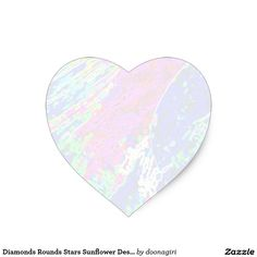 Diamonds Rounds Stars Sunflower Designs Heart Sticker