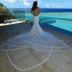 Mermaid wedding dress with a mermaid tail train . - Mermaid wedding dress with a mermaid tail train - White Bridal Dresses, Sexy Wedding Dresses, Bridal Gowns, Wedding Gowns, Bride Dresses, Wedding Bride, Rustic Wedding, Ugly Dresses, Modest Wedding