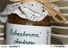 Rebarborové chutney recept - TopRecepty.cz Chutney, Kimchi, Tiramisu, Frozen, Homemade, Wine, Bottle, Recipes, Food