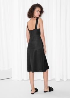 & Other Stories image 3 of V-neck Dress in Black