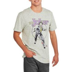 Classic Joker with Cards Men's Graphic Tee, Size: XL, Gray