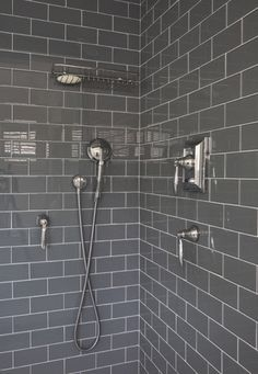 Subway Tile Showers Designs-my apartment manager said he's going to re-tile our shower in the near future. I wonder if he'd allow grey subway tile...