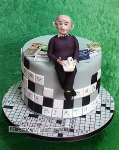 The Perfectionist Confectionist: Crossword Fiend!! - Birthday Cake