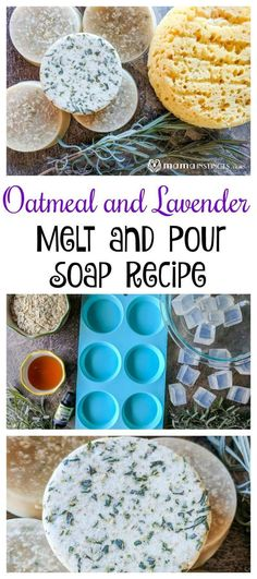Oatmeal and Lavender (Melt and Pour) Soap Make a nourishing and soothing soap that everyone will love. This oatmeal and lavender melt and pour soap recipe only takes 5 minutes to prepare. Your skin will thank you. Soap Melt And Pour, Oatmeal Soap, Lavender Soap, Lavender Crafts, Lavender Recipes, Lavender Flowers, Honey Soap, Soap Making Supplies, Homemade Soap Recipes