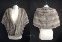 Beautiful SAPPHIRE MINK Fur STOLE Wrap by moxiefurs.com
