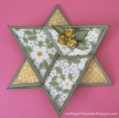 """A Star Fold Card for almost any Occasion:  To make this6"""" card, youwill need to start with a piece of paper measuring 12 X 12...."""