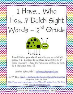 Hello Mrs Sykes - Resources for Teachers: Sight Words