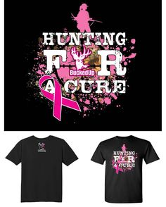 Available for pre-order will ship early Oct. 2016 When you purchase this shirt a portion of the proceeds will be donated to the Hart to Heart Breast Cancer Foundation. Short Sleeve Black with Hunting For A Cure artwork on the front small BuckedUp logo on back. Gildan 100% Cotton men's styled shirt. Please choose size accordingly. Get involved and make a difference in the fight against Breast Cancer. BuckedUp Apparel will donate portion of every purchase in the month of October to the Hart to…