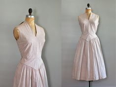 vintage 1940s Seersucker Stripe dress
