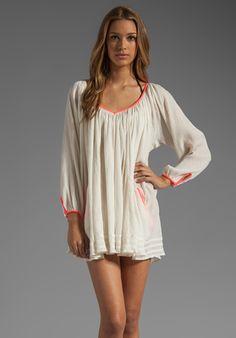 BASTA SURF Capri Mini Dress in Ivory/Coral at Revolve Clothing - Free Shipping!