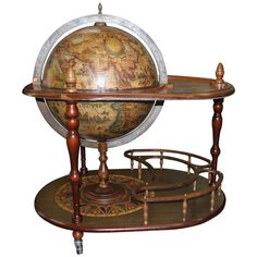 French Mid-Century Modern World Globe/ Bar, circa 1960s 1