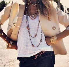 Accessorise with assessories. Statement Jewellery