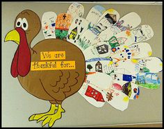 Thankful turkey feathers... Mr. First Grade