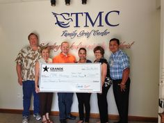 Thank you Grande Communications in San Marcos for your very generous $2,000 donation to CTMC Hospice Care's Camp HeartSong! Camp HeartSong is a special bereavement camp for grieving youths who have lost someone close to them. #SMTX #giving