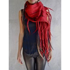 hand felted super fine merino wool scarf in deep cherry red! scarves scarves scarves