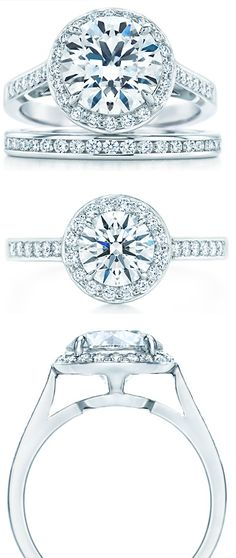 "Tiffany & Co. ""Embrace"" engagement ring.. For the longest time I was IN LOVE with the Tiffany setting...but when I put this on my hand started to tremble <3 its so perfect I couldn't sit still <3"
