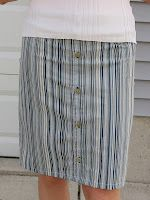 I made this fabulous skirt from my husband's old dress shirt!