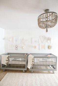 Boy/girl twins nursery: http://www.stylemepretty.com/living/2015/05/04/a-gender-neutral-nursery-for-twins/   Photography: Conrhod Zonio - http://www.conrhodzonio.com/