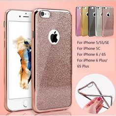 New Bling Glitter ShockProof Silicone Case Cover For iPhone 5S SE 5C 6 6S 7 Plus