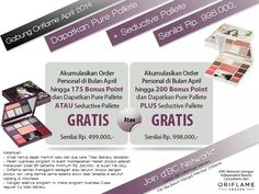 Join Oriflame Indonesia in April 2014....and get free one or both palette. Ask me how... :)