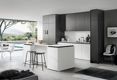 These high-end kitchens from New York's A&D Building showcase how designers can use technology to support timeless design. German Kitchen, Old Kitchen, Kitchen Living, Kitchen And Bath, Kitchen White, Lacquer Furniture, Kitchen Furniture, Kitchen Decor, Kitchen Interior