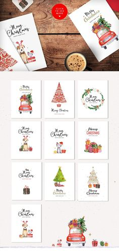 Merry christmas & happy new year set by SoNice on @creativemarket