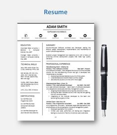 Off Sale Resume Template Cv Template With By Resumeenhancer