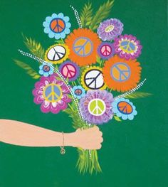 ☯☮ॐ American Hippie Bohemian Psychedelic Art ~ Bouquet of Peace Art Hippie, Hippie Peace, Hippie Love, Hippie Chick, Hippie Style, Hippie Things, Hippie Bohemian, Peace Love Happiness, Peace And Love