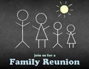 Family reunion save the date  @Evite invitation design