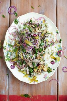 beef stroganoff fluffy rice, red onion & parsley pickle | Jamie Oliver | Food | Jamie Oliver (UK)