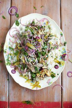 beef stroganoff fluffy rice, red onion & parsley pickle   Jamie Oliver   Food   Jamie Oliver (UK)