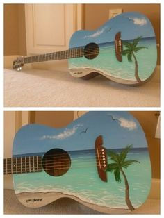My newest creation!!!! Custom painted guitar!!! Can't wait to make the next one!