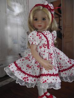 Little Darling Effner Valentine's Dress & by VintiqueDesigns