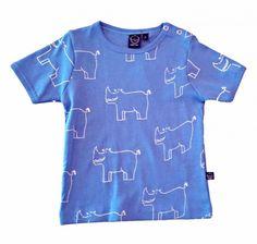 IdaIdaT , T-skjorte Blå Nesehorn
