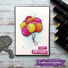 Kartenwerke, Geburtstagskarte, Spectrum Noir Marker, Crafter's Companion Design Team Deutschland