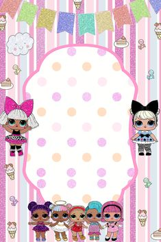 The centerpiece at this LOL Surprise Dolls birthday party i - Her Crochet 6th Birthday Parties, 7th Birthday, Birthday Party Decorations, Surprise Birthday, Unicorn Invitations, Birthday Party Invitations, Lol Doll Cake, Leelah, Doll Party