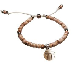 Totally want this!!! Volleyball Natural SportBEAD Adjustable Bracelet