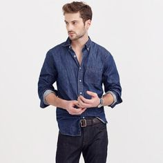 Men's J. Crew Slim Midweight Denim Shirt✨NWT Brand-new and can be a great Christmas present for a boyfriend or husband. This is a men's size medium shirt. There are absolutely no flaws or defects. The tags are still attached and retail price is $118. Color is indigo. Cotton with button down collar. Machine wash. Fits true to size. Chest 35-37. Neck 14-14.5. Waist 29-31. Arm length 32-33. All in inches. PLEASE MAKE REASONABLE OFFERS IF INTERESTED J. Crew Tops Button Down Shirts