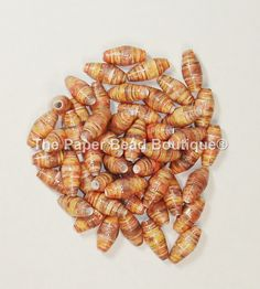 Paper Beads, Loose Handmade Supplies Barrel Fall Leaves by ThePaperBeadBoutique…