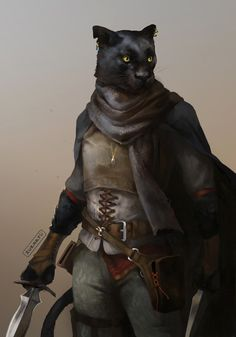 (4 / 4) And last from the paintings, here's our s o f t tabaxi rogue ❤❤❤